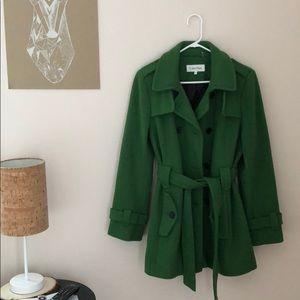 A+ Condition! Green Calvin Klein Peacoat • Size 14